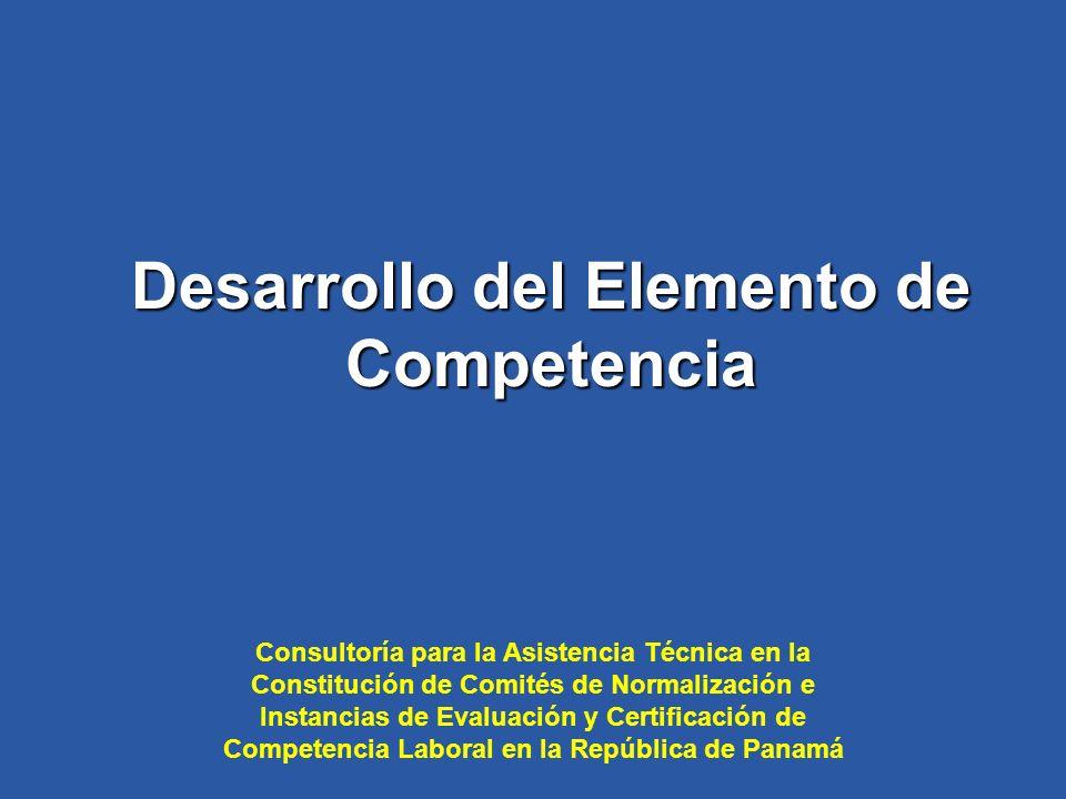Desarrollo del Elemento de Competencia
