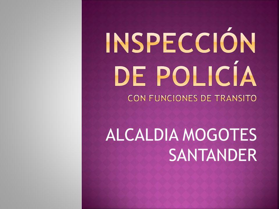 Inspección de policía CON FUNCIONES DE TRANSITO
