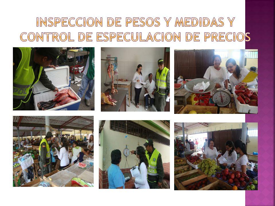 INSPECCION DE PESOS Y MEDIDAS Y CONTROL DE ESPECULACION DE PRECIOS