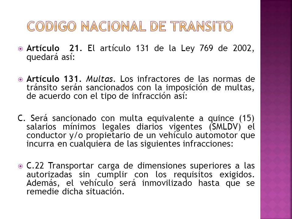 Codigo nacional de transito