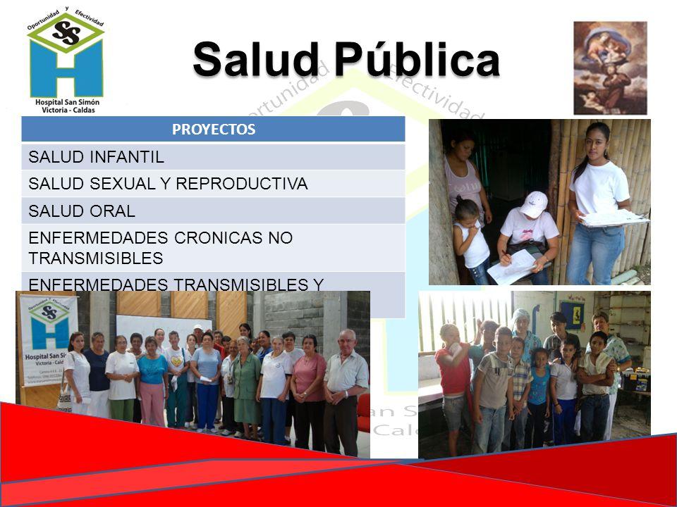 Salud Pública PROYECTOS SALUD INFANTIL SALUD SEXUAL Y REPRODUCTIVA