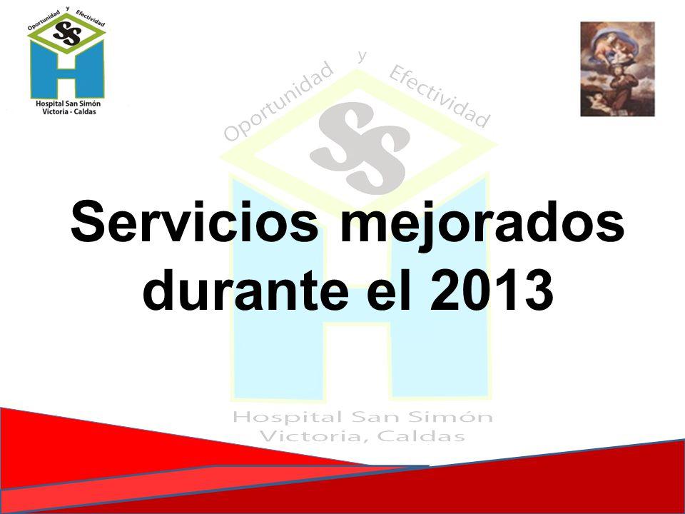 Servicios mejorados durante el 2013