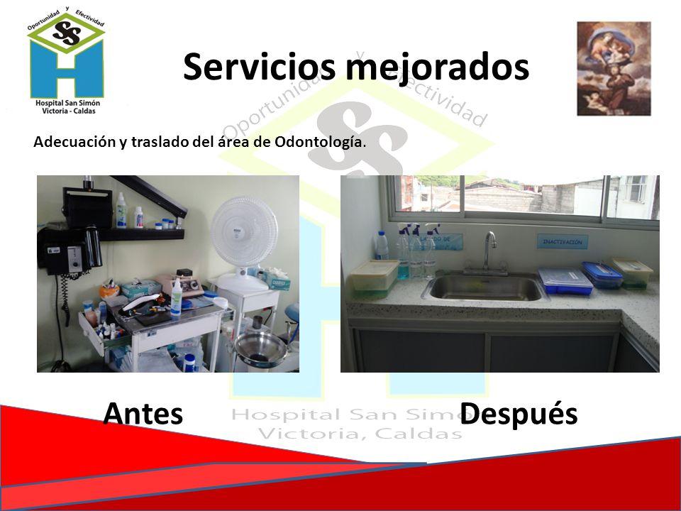 Servicios mejorados Antes Después