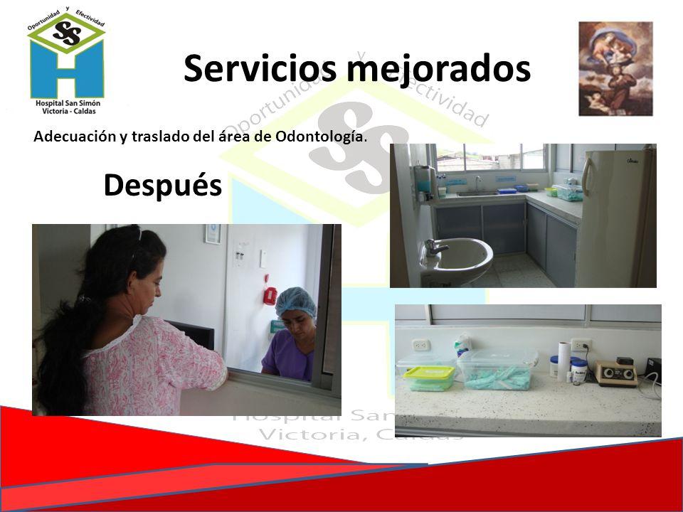 Servicios mejorados Después