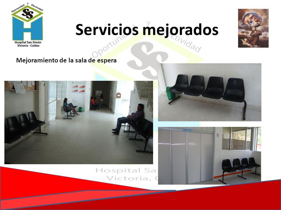 Servicios mejorados Mejoramiento de la sala de espera