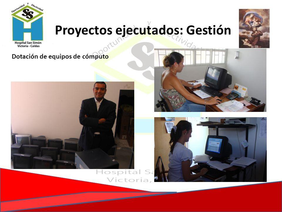 Proyectos ejecutados: Gestión