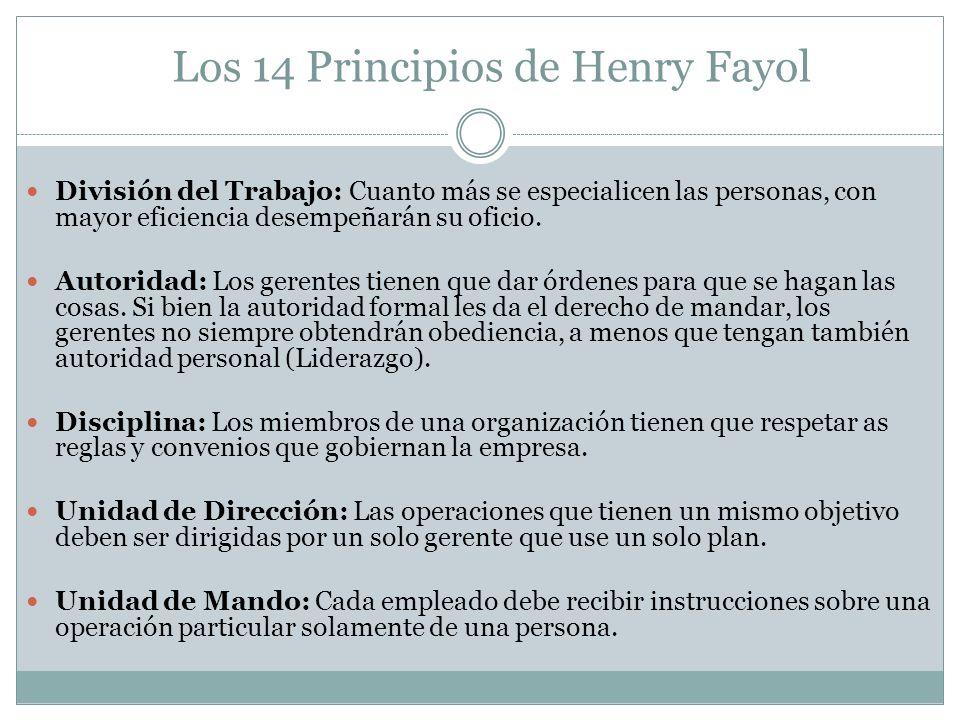 Los 14 Principios de Henry Fayol