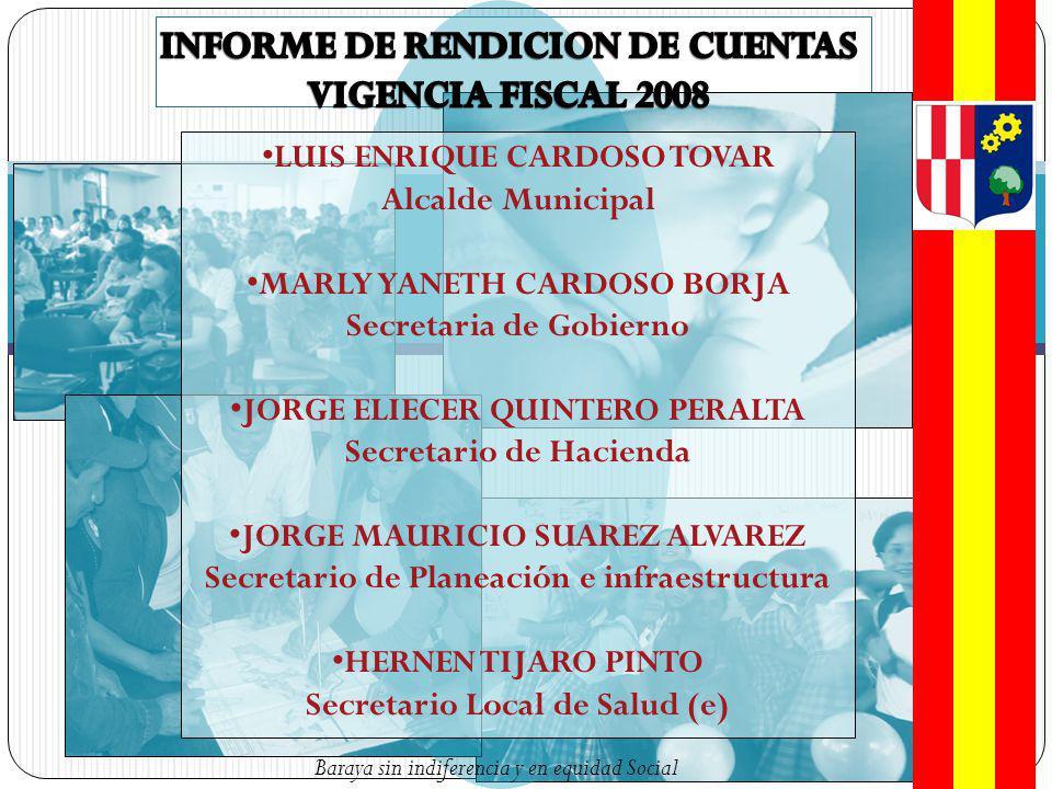 INFORME DE RENDICION DE CUENTAS VIGENCIA FISCAL 2008
