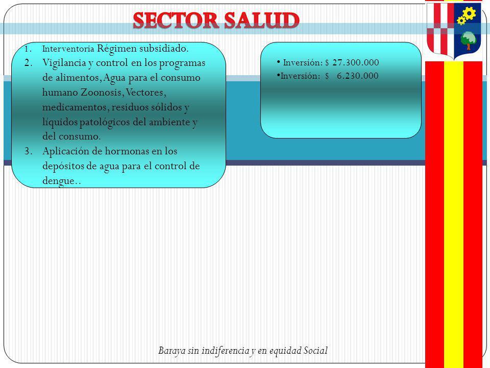 SECTOR SALUD Interventoria Régimen subsidiado.
