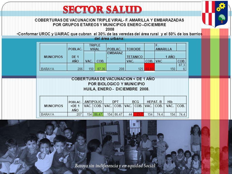 SECTOR SALUD Baraya sin indiferencia y en equidad Social