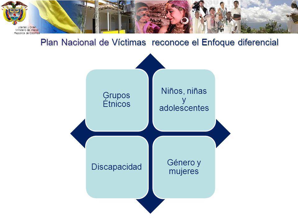 Plan Nacional de Víctimas reconoce el Enfoque diferencial