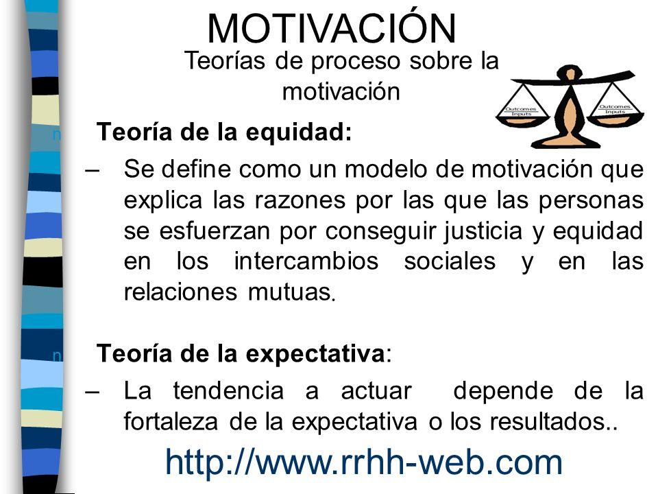 Teorías de proceso sobre la motivación