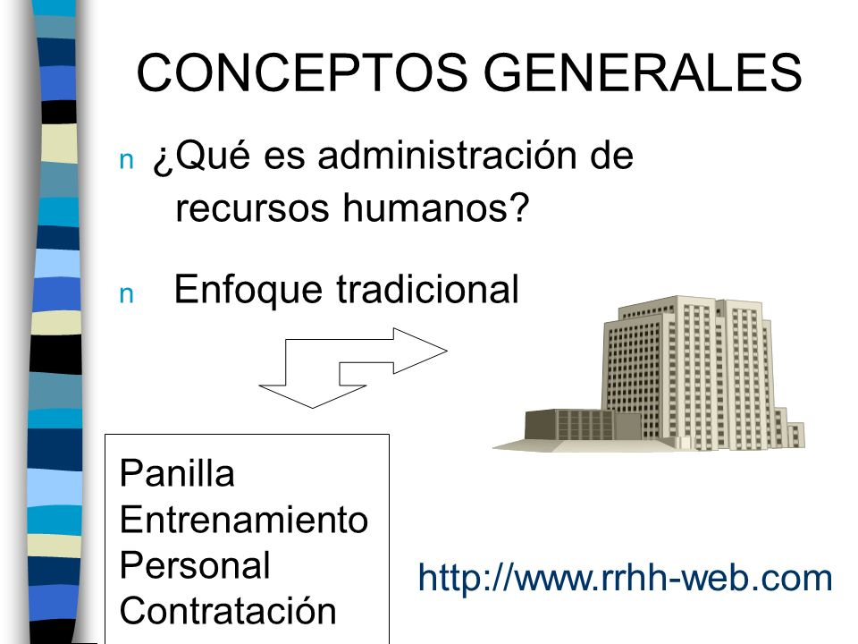 CONCEPTOS GENERALES ¿Qué es administración de recursos humanos