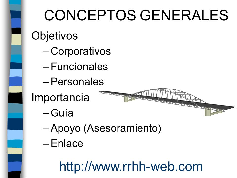 CONCEPTOS GENERALES http://www.rrhh-web.com Objetivos Importancia