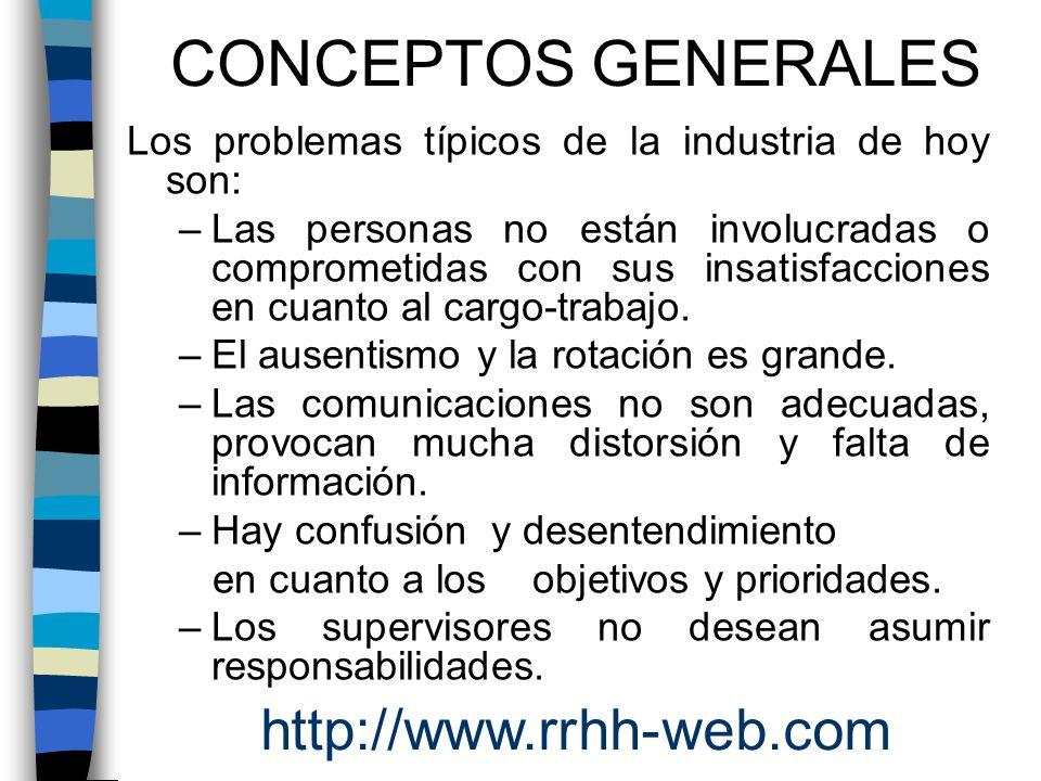 CONCEPTOS GENERALES http://www.rrhh-web.com