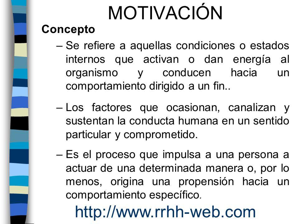 MOTIVACIÓN http://www.rrhh-web.com Concepto .