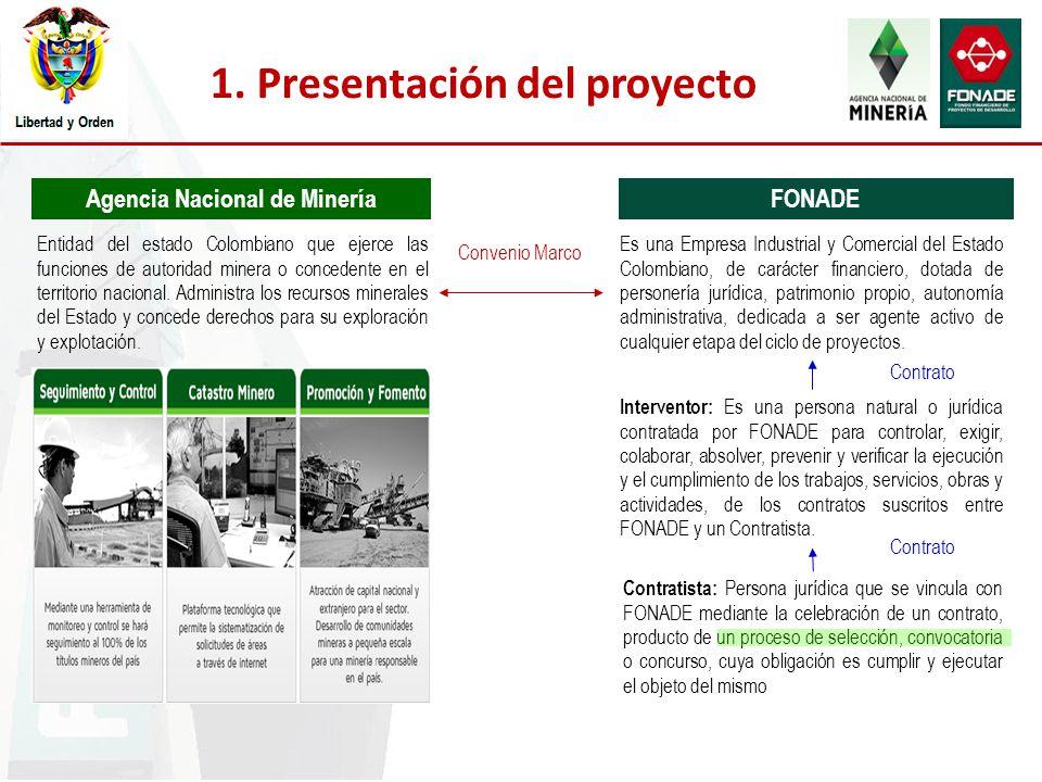 1. Presentación del proyecto Agencia Nacional de Minería