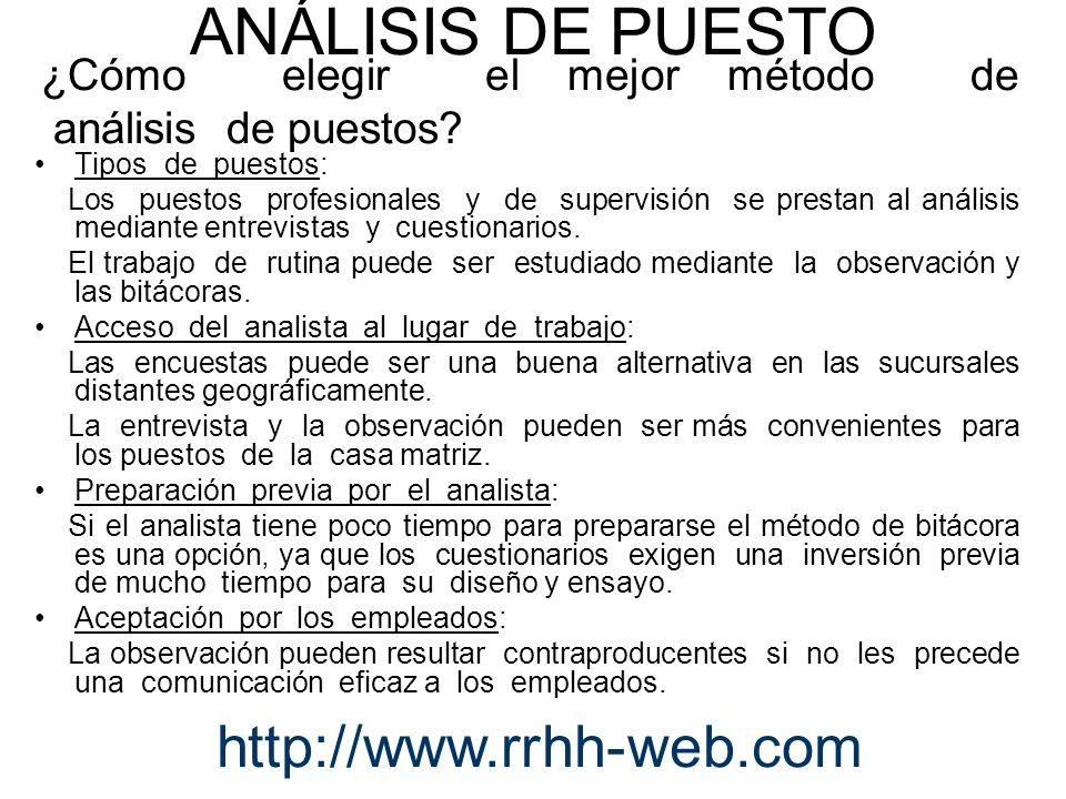 ¿Cómo elegir el mejor método de análisis de puestos