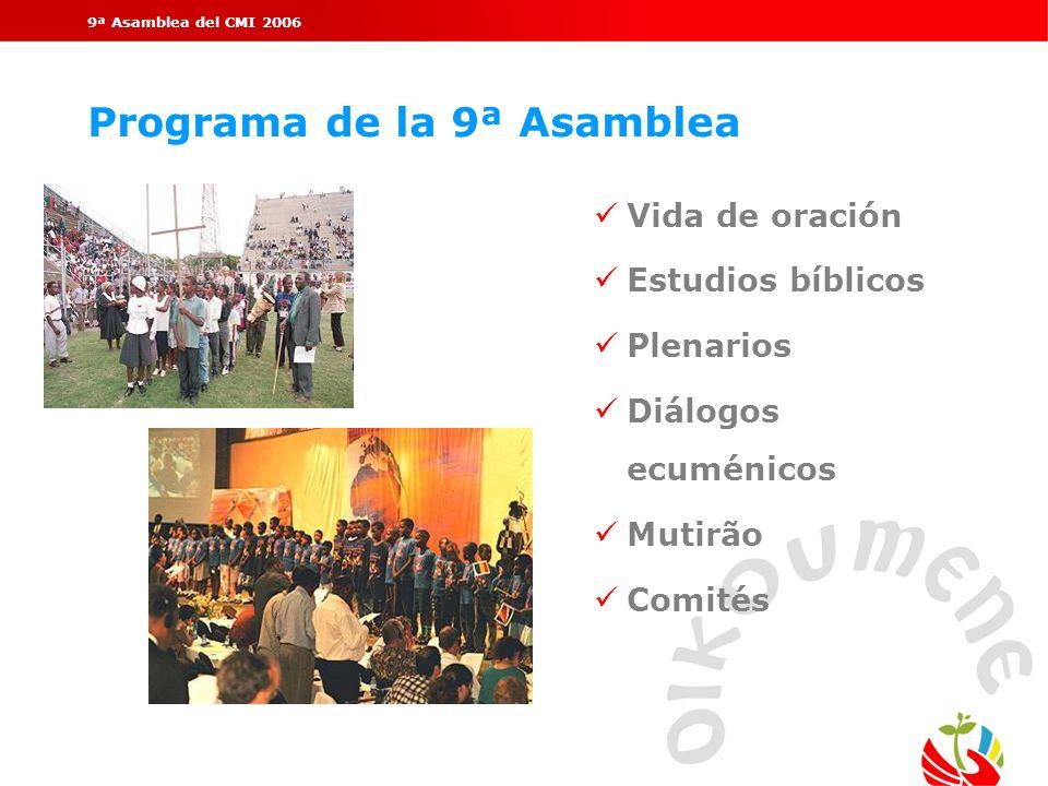 Programa de la 9ª Asamblea