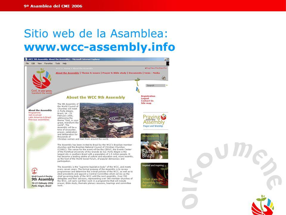 Sitio web de la Asamblea: www.wcc-assembly.info