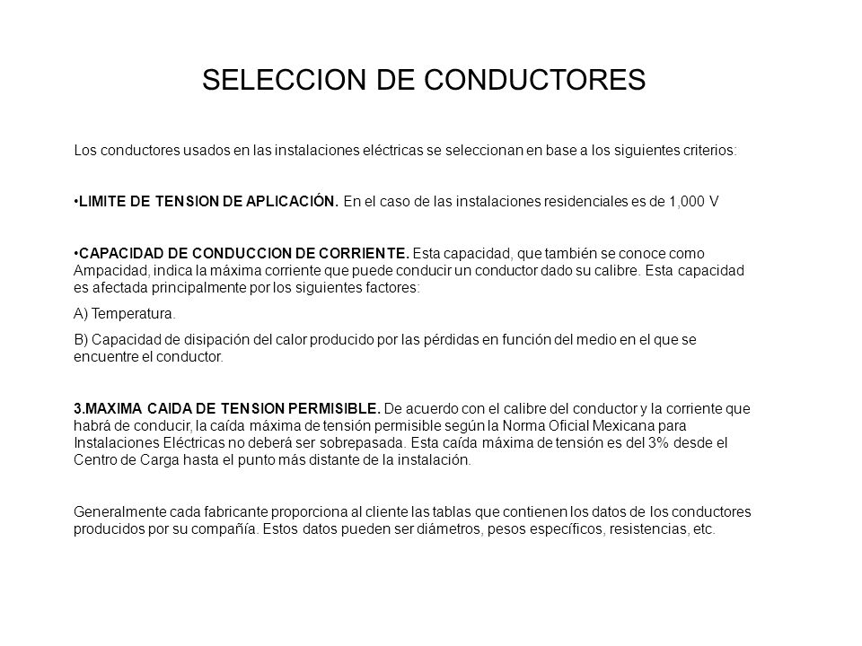 SELECCION DE CONDUCTORES