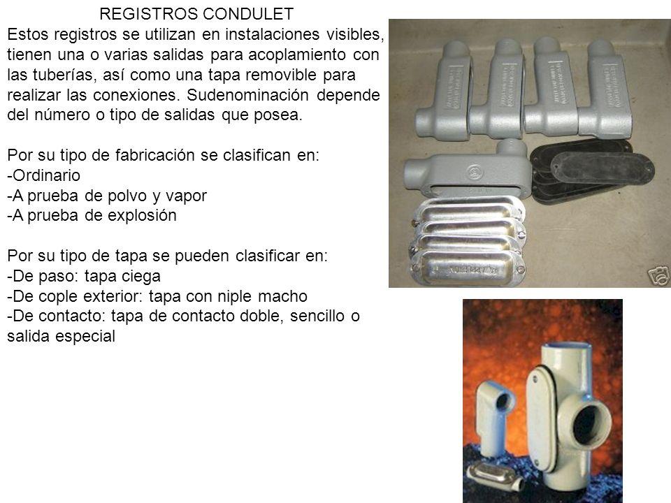 REGISTROS CONDULET