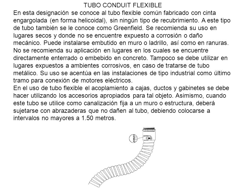TUBO CONDUIT FLEXIBLE