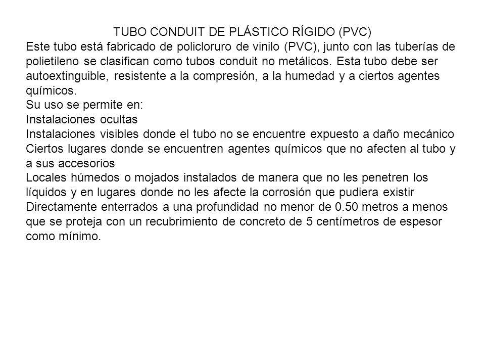 TUBO CONDUIT DE PLÁSTICO RÍGIDO (PVC)