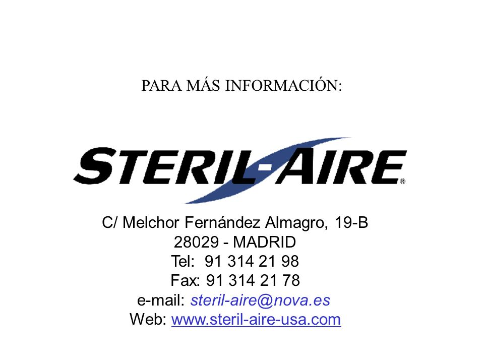 C/ Melchor Fernández Almagro, 19-B 28029 - MADRID Tel: 91 314 21 98