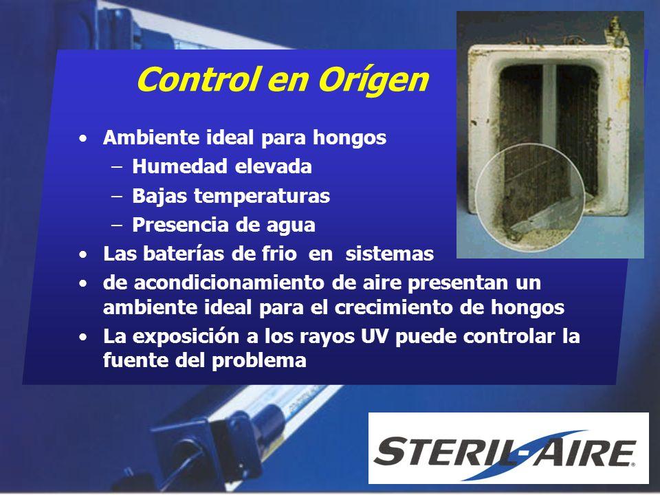 Control en Orígen Ambiente ideal para hongos Humedad elevada