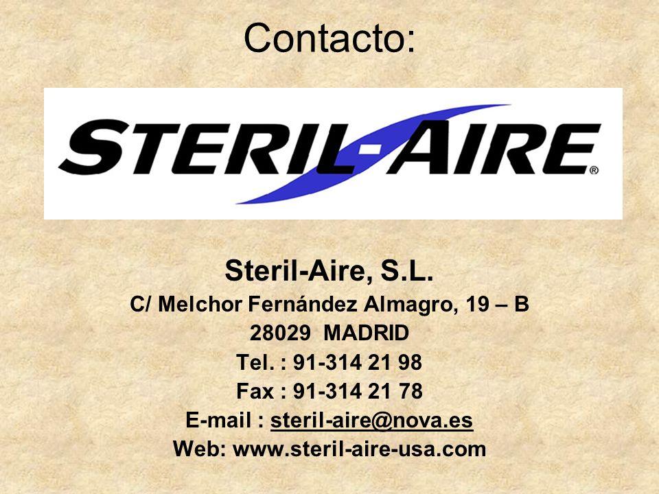 C/ Melchor Fernández Almagro, 19 – B E-mail : steril-aire@nova.es