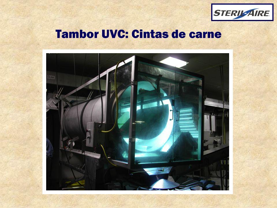 Tambor UVC: Cintas de carne