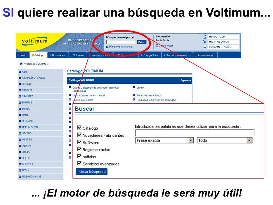 SI quiere realizar una búsqueda en Voltimum...