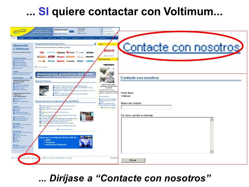 ... SI quiere contactar con Voltimum...
