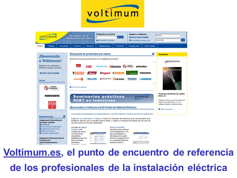 Voltimum.es, el punto de encuentro de referencia de los profesionales de la instalación eléctrica
