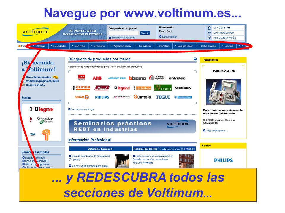 Navegue por www.voltimum.es...