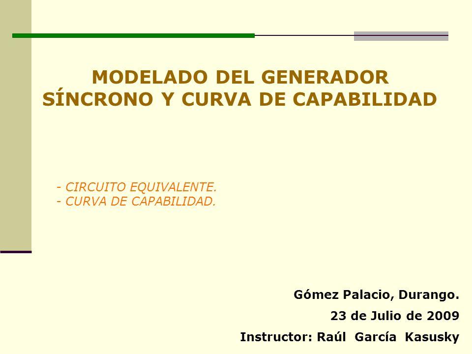 MODELADO DEL GENERADOR SÍNCRONO Y CURVA DE CAPABILIDAD