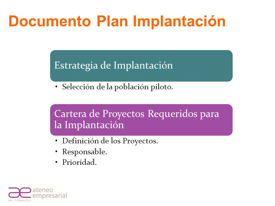 Documento Plan Implantación