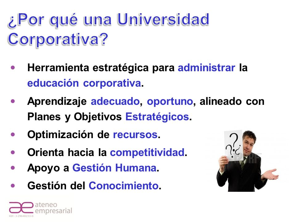 ¿Por qué una Universidad Corporativa