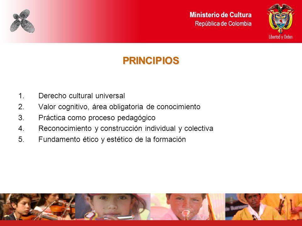 PRINCIPIOS Ministerio de Cultura República de Colombia