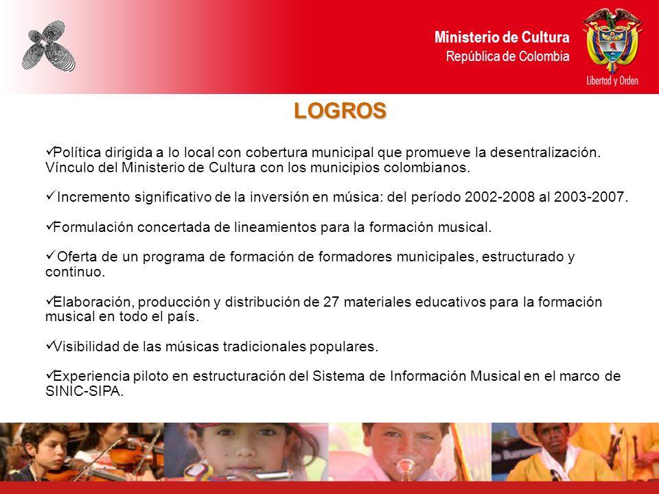 LOGROS Ministerio de Cultura República de Colombia
