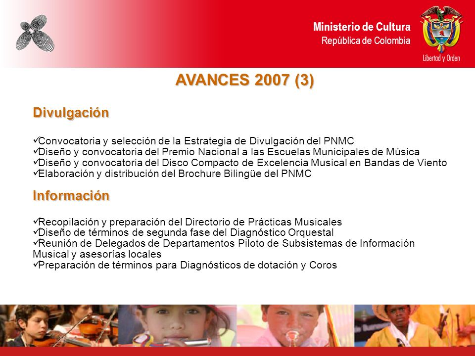 AVANCES 2007 (3) Divulgación Información