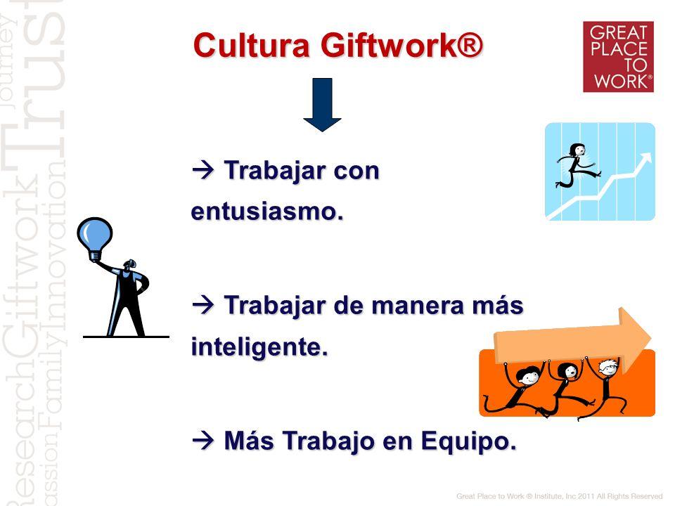 Cultura Giftwork®  Trabajar con entusiasmo.