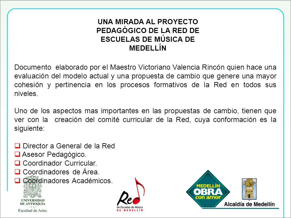 UNA MIRADA AL PROYECTO PEDAGÓGICO DE LA RED DE ESCUELAS DE MÚSICA DE MEDELLÍN