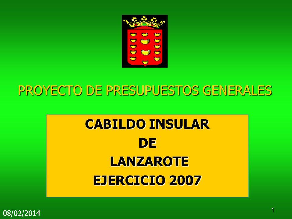 PROYECTO DE PRESUPUESTOS GENERALES