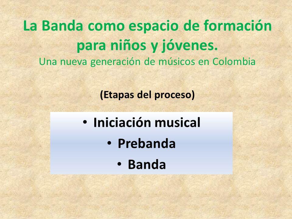 La Banda como espacio de formación para niños y jóvenes