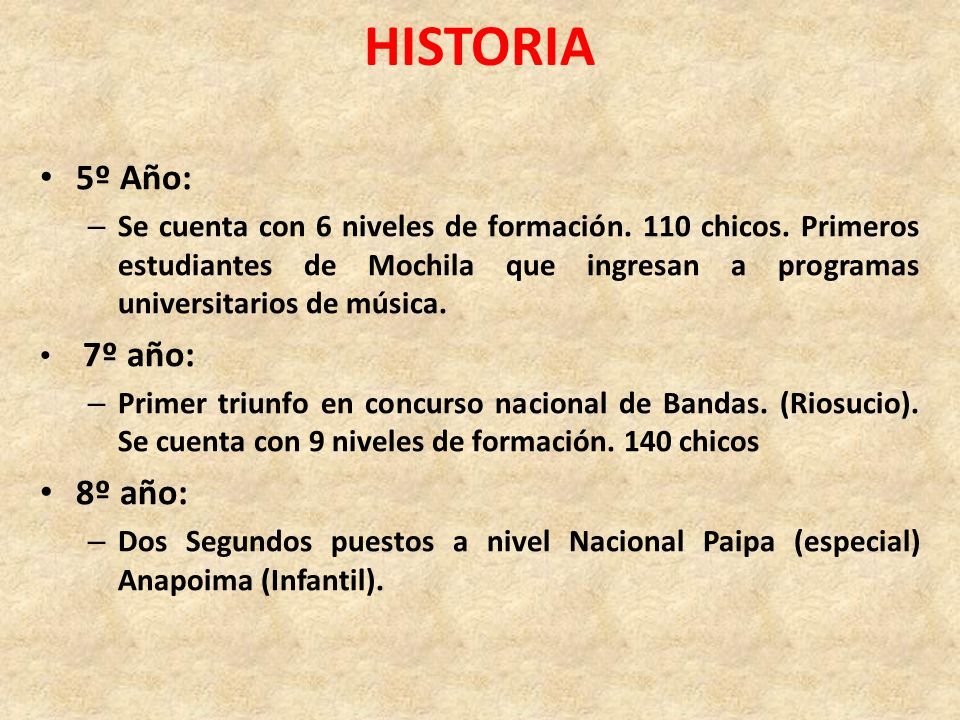 HISTORIA 5º Año: