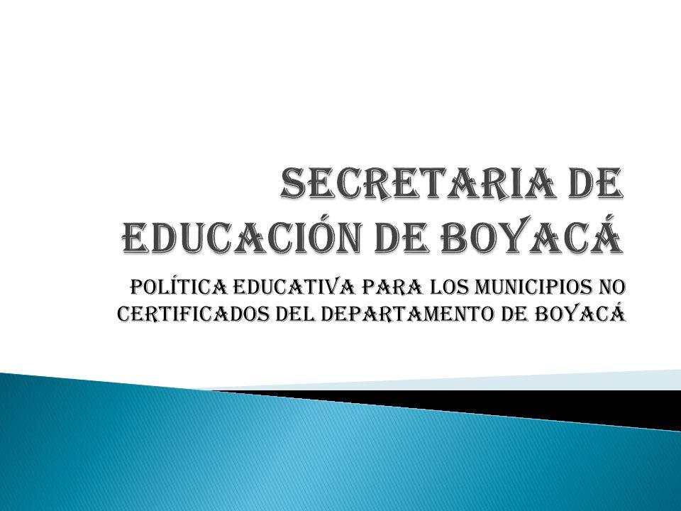 SECRETARIA DE EDUCACIÓN DE BOYACÁ