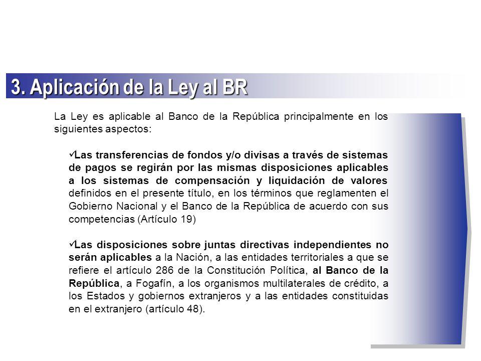 3. Aplicación de la Ley al BR