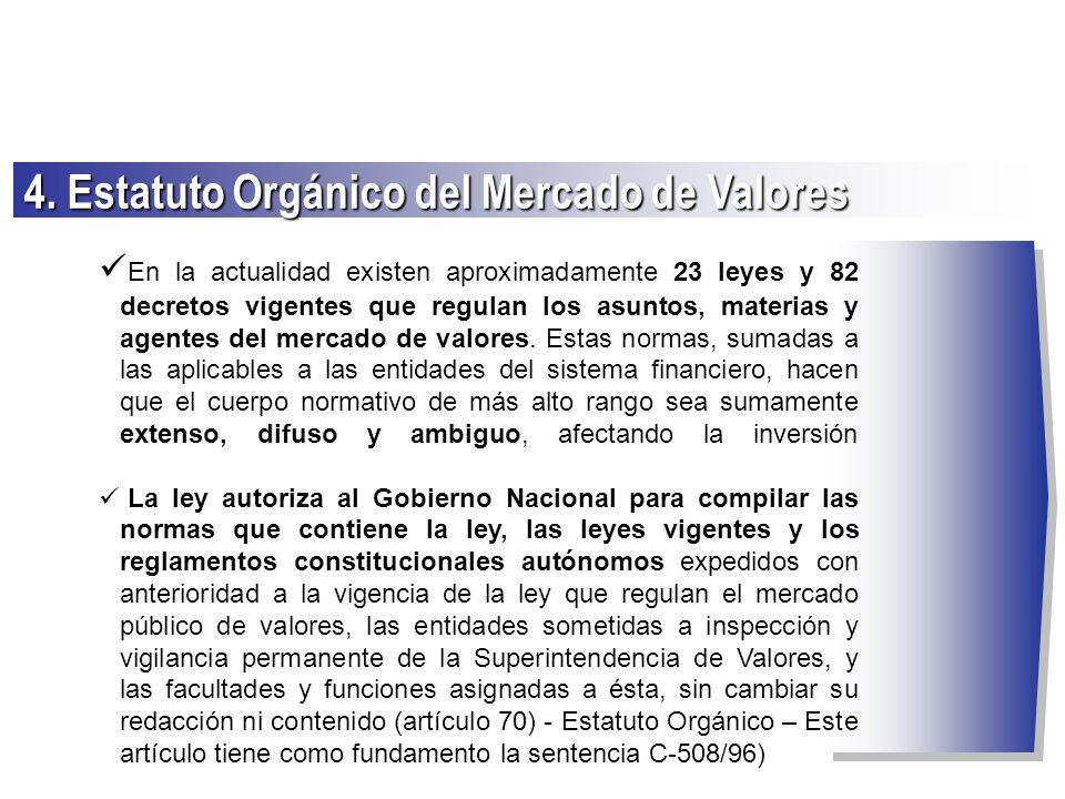 4. Estatuto Orgánico del Mercado de Valores